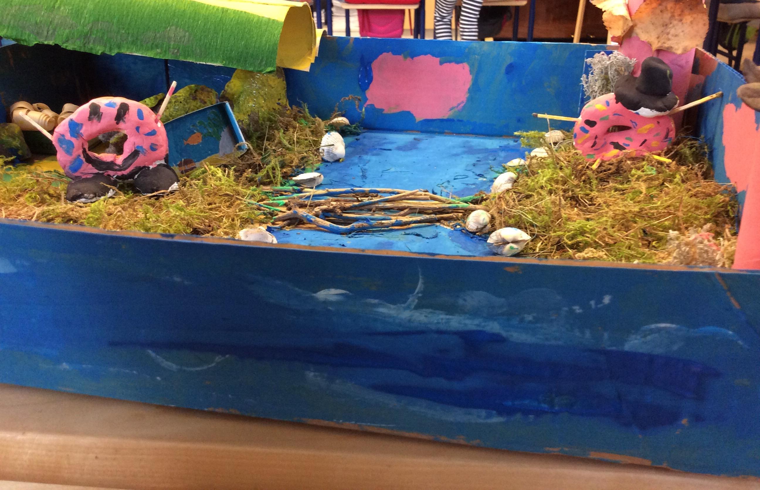 DONITSIEN SALAINEN AUKIO Donitsien salaisessa aukiosta asuu 2 donitsin joiden nimet ovat Lilja ja Ruusu joilla on lemmikkinä kultakala. Aukiolla on simpukoita, puolukoita, pinkkejä pilviä ,pinkkejä puita sekä joki josta menee silta toiselle puolelle. Ne syövät pastaa ja karkkia. Kirjoittajat: Linnea & Saaga