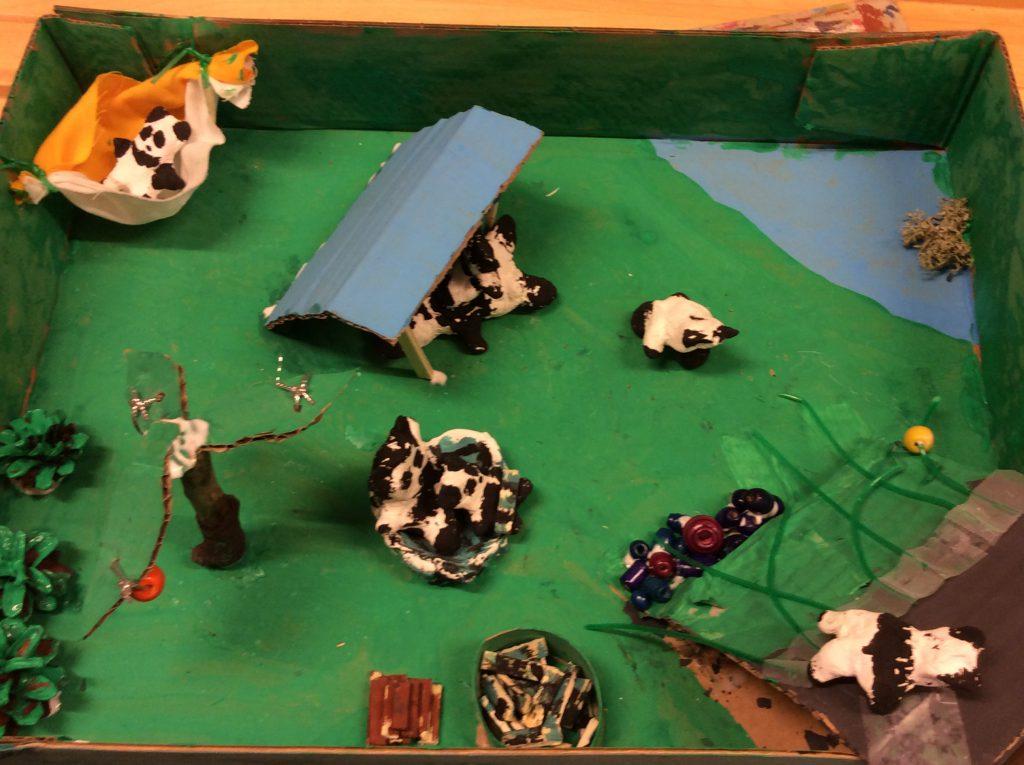 Pandalaakso Pandalaaksossa asuu viisi lasta, isä ja äiti. Yksi lapsista tykkää kiipeillä kalliolla yksi loikoilla riippumatossa ,yksi tykkää pelata jalkapalloa,yksi olla äidin sylissä ja yksi pomppia isänsä päällä.Pandalaakso sijaitsee salaisella saarella ja pandat ovat viisaam pia kuin me ihmiset. He osaavat puhua Suomen kieltä. Sohvi ja Valma